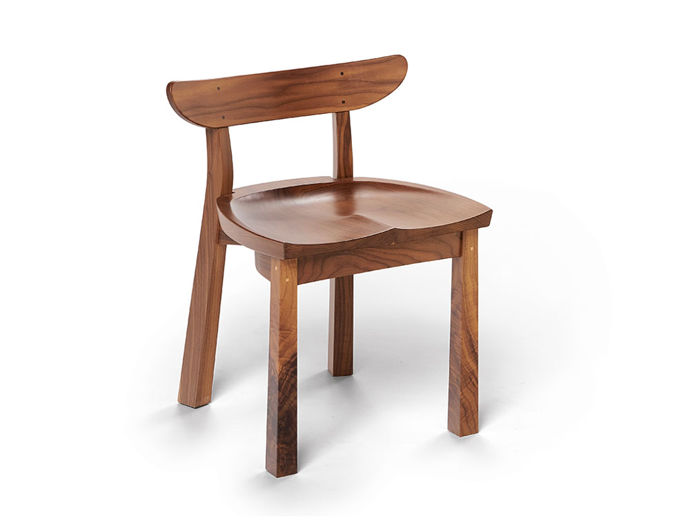 solid walnut kitchen chair