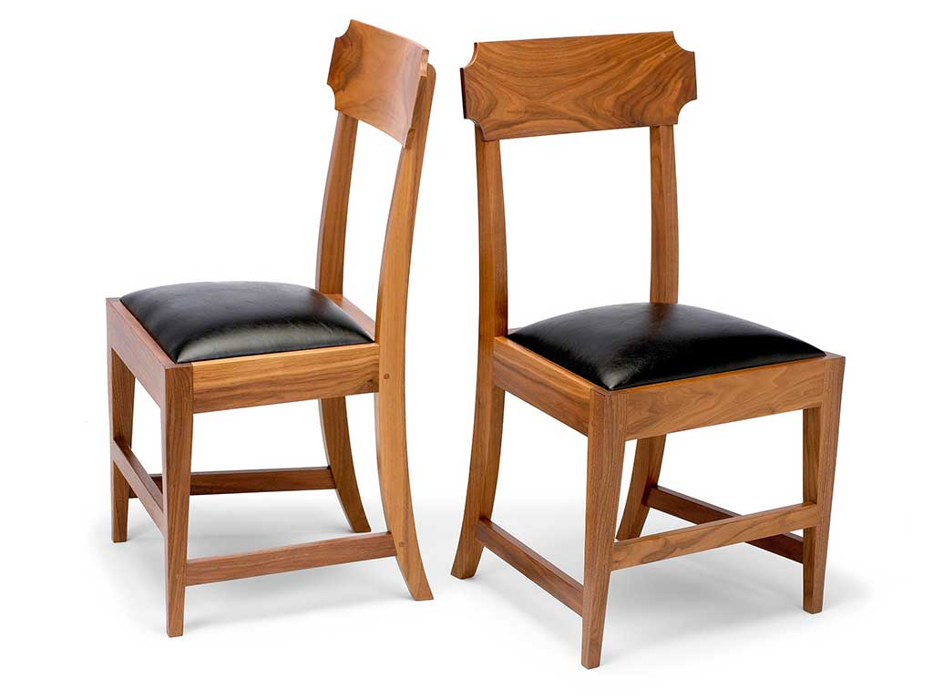 Monticello solid walnut Tablet-Back Chair®