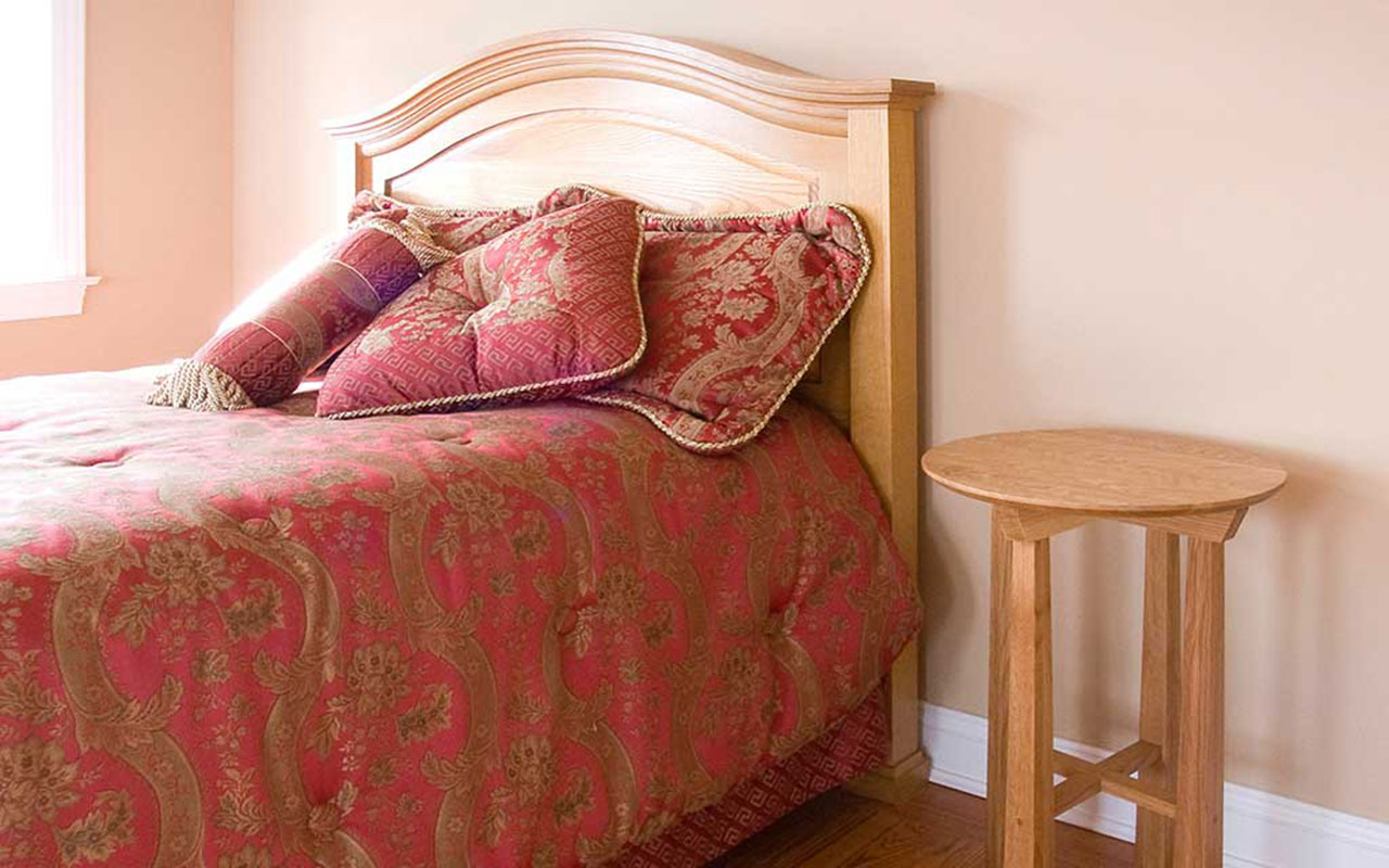quarter sawn oak arts & crafts bed