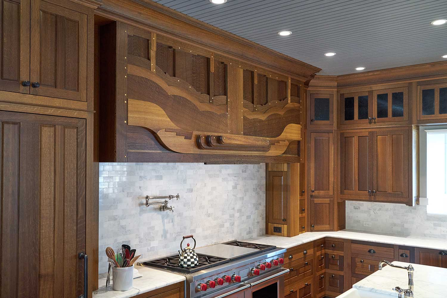 Custom Fumed Oak Kitchen