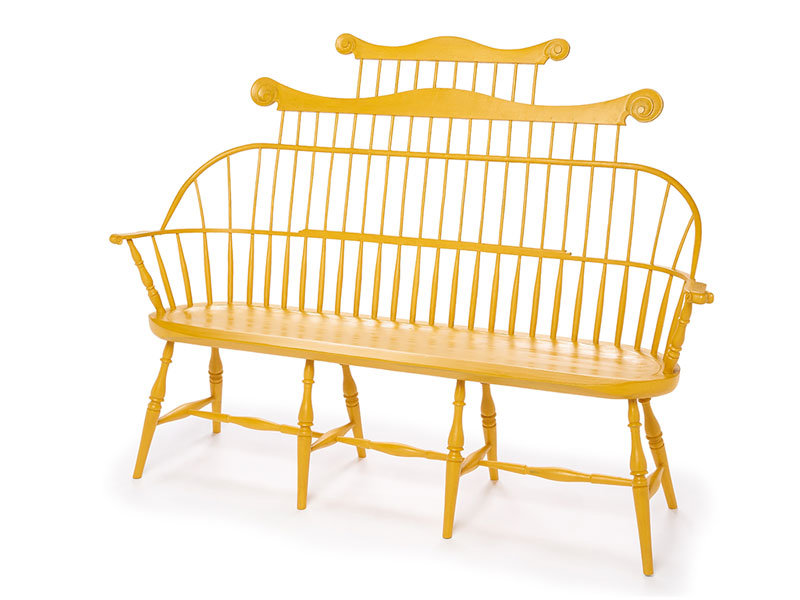 Double Comb Sack-back Windsor Bench