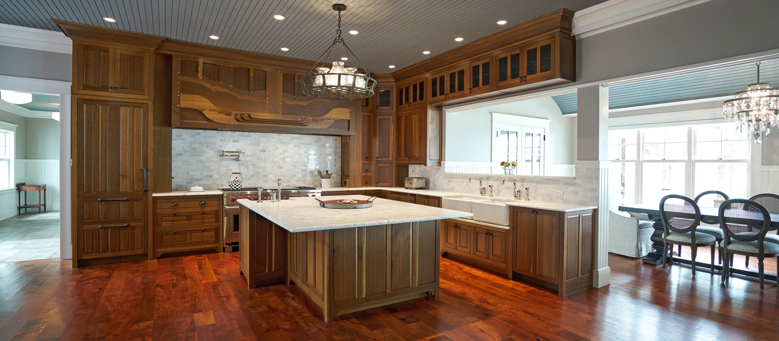 Greene and Greene style kitchen