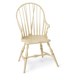 Cream Bow back Windsor Chair with arms