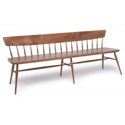 Walnut Contemporary modern Windsor Bench Seats three