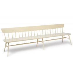 Cream painted Contemporary modern bench seats four