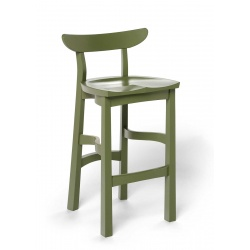 green painted Serpentine Stool