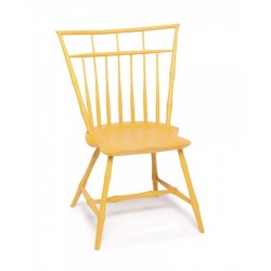 Yellow Bird Cage style Bamboo Rod Back Windsor Chair