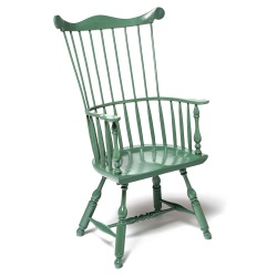 Green Philadelphia style Comb Back Windsor Chair