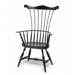 Black Comb Back Windsor Chair