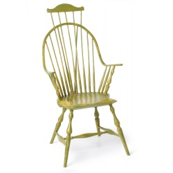 Custom color Continuous-arm Windsor Chair with comb