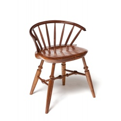 Walnut Farmhouse Style Windsor Chair