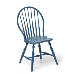 Blue Kids bow back Windsor Chair