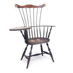 Custom Color Comb Back Windsor Chair Writing Desk