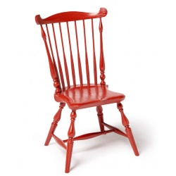 Red youth fan back Windsor Chair