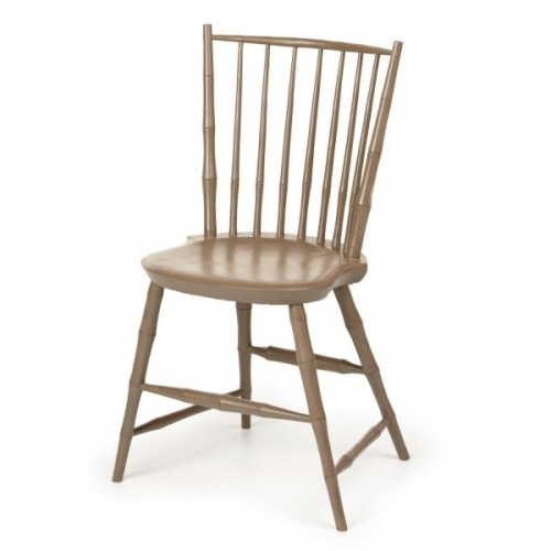Brown Bamboo style Rod Back Windsor Chair