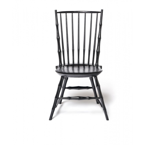 Black Bamboo style Rod Back Windsor Chair