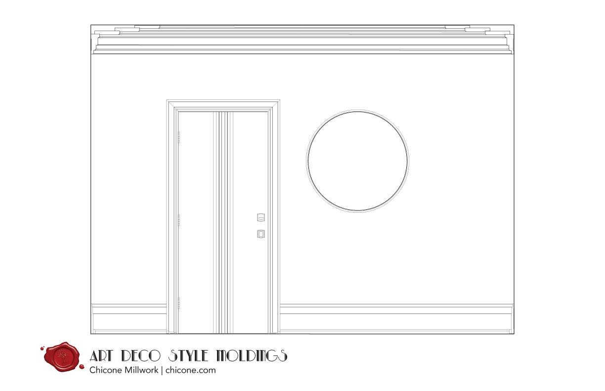 Art Deco crown molding