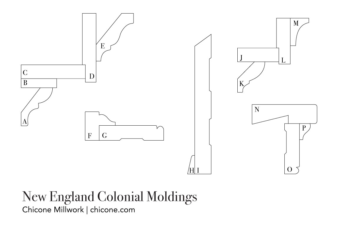 New England Colonial molding