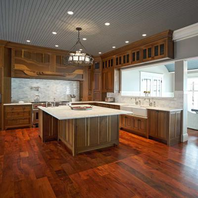 fumed white oak kitchen cabinets wide view
