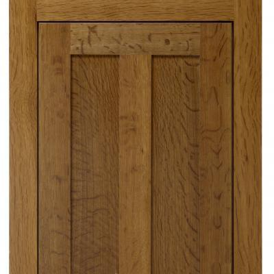 oak kitchen cabinet door in Arts & Crafts style