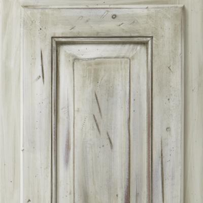 kitchen cabinet door in distressed finish