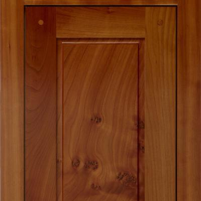 kitchen cabinet door in natural cherry in Shaker style