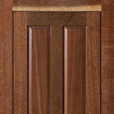 kitchen cabinet door in fumed white oak in Greene and Greene style
