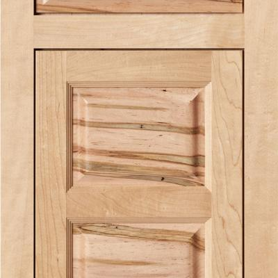 ambrosia maple kitchen cabinet door with pillowed front