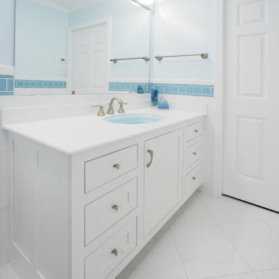 Custom painted vanity