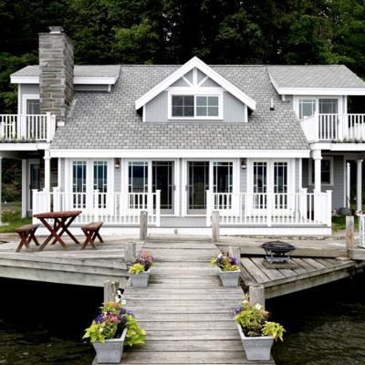 Victorian lake front cottage after renovation