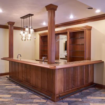 Mahogany bar with granite top