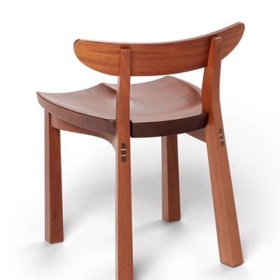 standard mahogany serpentine chair rear view