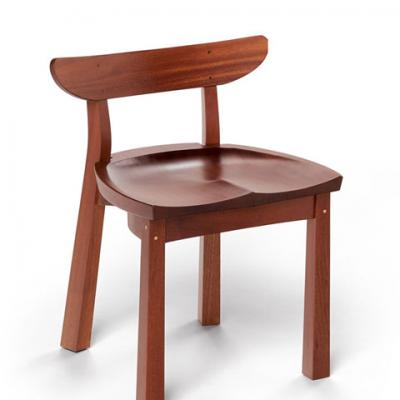 standard mahogany serpentine chair front view