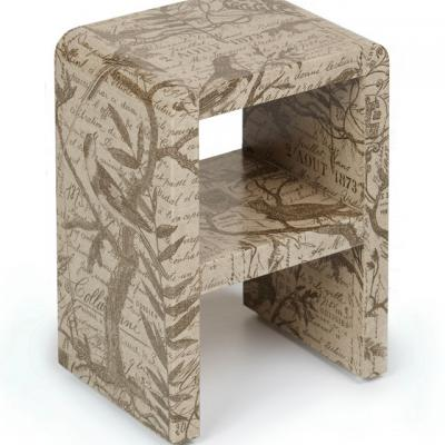 Karl Springer inspired waterfall table (linen cover)