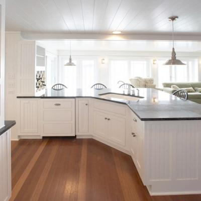 counter view cottage kitchen in white