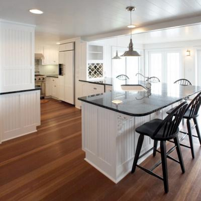 wide view cottage kitchen in white